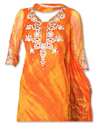 Orange Tie and Dye Chiffon Suit