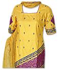 Mustard/Magenta Silk Suit