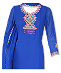 Royal Blue Georgette Suit- Indian Dress