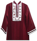 Maroon Chiffon Suit - Pakistani Casual Dress