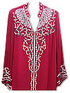 Red Chiffon Suit - Indian Semi Party Dress