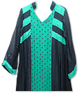 Black /Sea Green Chiffon Suit - Indian Dress