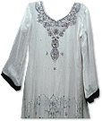 White Chiffon Suit- Indian Dress