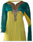 Yellow/Teal Georgette Suit