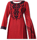Red/Black Marina Suit- Pakistani Casual Dress