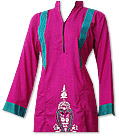 Hot Pink/Sea Green Marina Suit- Pakistani Casual Clothes