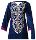 Navy Blue/Beige Marina Suit- Pakistani Casual Dress