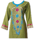Parrot Green/Turquoise Marina Suit- Pakistani Casual Dress