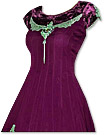 Dark Magenta/Green Georgette Suit