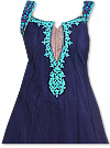 Navy Blue/Turquoise Georgette Suit- Indian Dress