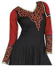 Black/Red Georgette Suit