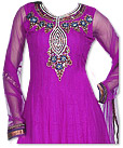 Magenta Chiffon Suit - Indian Semi Party Dress