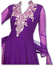 Dark Purple Chiffon Suit