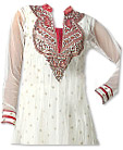 White Chiffon Jamawar Suit  - Indian Dress