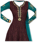 Brown/Teal Georgette Suit