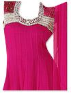 Shocking Pink Chiffon Suit