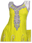 Yellow Chiffon Suit  - Indian Semi Party Dress