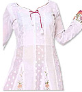 White/Pink Georgette Suit