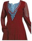 Maroon Georgette Suit