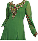 Green Georgette Suit- Indian Semi Party Dress