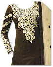 Dark Brown/Cream Georgette Suit - Indian Dress