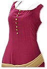 Magenta/Golden Georgette Suit - Indian Semi Party Dress