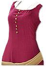 Magenta/Golden Georgette Suit