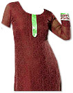 Maroon Georgette Suit - Pakistani Casual Clothes