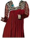 Maroon/Black Chiffon Suit - Indian Dress