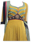 Mustard Chiffon Suit- Indian Semi Party Dress
