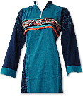 Turquoise Marina Suit- Pakistani Casual Clothes