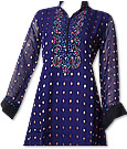 Dark Purple Chiffon Jamawar Suit- Indian Dress