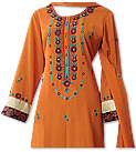 Orange/Maroon Georgette Suit