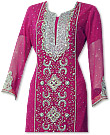 Hot Pink Crinkle Chiffon Suit