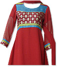 Deep Red Georgette Suit - Pakistani Casual Dress