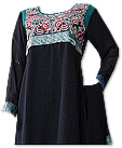 Black/Sea Green Chiffon Suit- Pakistani Casual Clothes