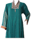 Teal Chiffon Suit - Indian Semi Party Dress