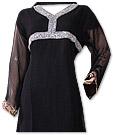 Black Chiffon Suit - Indian Semi Party Dress