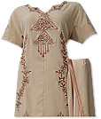 Light Brown Georgette Trouser Suit- Pakistani Casual Dress