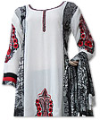 White/Black Georgette Suit  - Pakistani Casual Dress