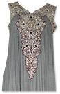 Grey Crinkle Chiffon Suit
