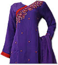 Dark Purple/Red Chiffon Suit- Indian Dress