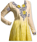 Yellow Chiffon Suit  - Indian Semi Party Dress