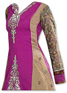 Magenta/Beige Georgette Suit  - Indian Semi Party Dress