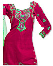 Hot Pink Chiffon Suit- Indian Semi Party Dress