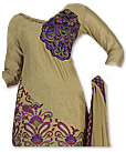 Beige Georgette Suit   - Pakistani Casual Clothes