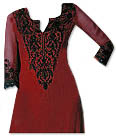 Red Georgette Suit  - Indian Dress