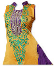 Yellow/Purple Georgette Suit  - Pakistani Casual Clothes