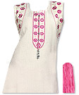 �White/Pink Georgette Suit