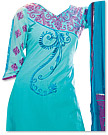 Light Turquoise Georgette Suit - Indian Semi Party Dress
